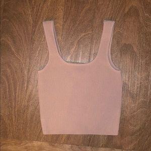 pink/mauve tank top